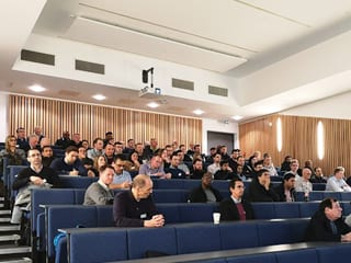A full house, attended this first IE/ICorr joint event.