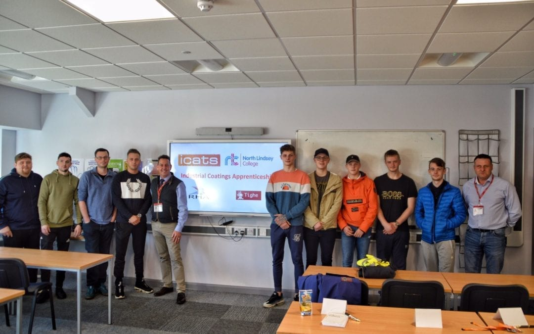 David Horrocks meets new apprentices at North Lindsey College