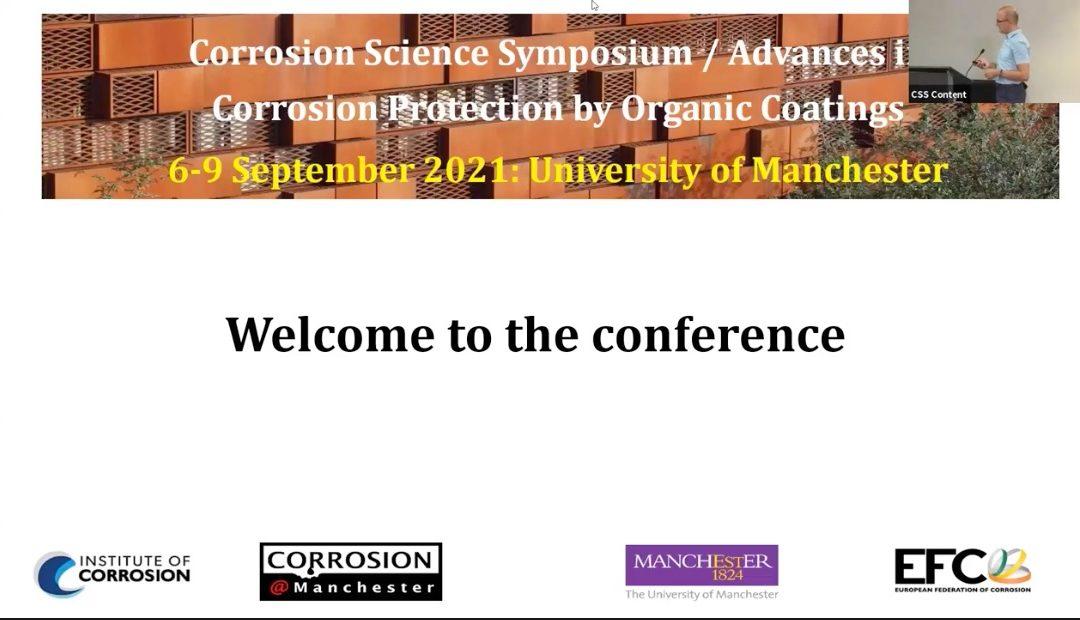 Corrosion Science Symposium – 6-9 Sept 2021